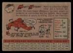 1958 Topps #371  Marty Keough  Back Thumbnail