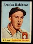 1958 Topps #307  Brooks Robinson  Front Thumbnail