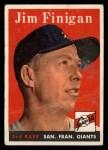1958 Topps #136  Jim Finigan  Front Thumbnail