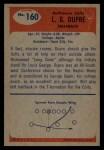 1955 Bowman #160  Louis Dupre  Back Thumbnail