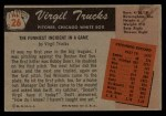 1955 Bowman #26  Virgil Trucks  Back Thumbnail