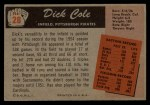 1955 Bowman #28  Dick Cole  Back Thumbnail