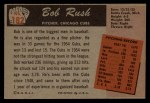 1955 Bowman #182  Bob Rush  Back Thumbnail