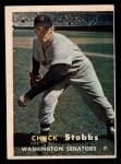 1957 Topps #101  Chuck Stobbs  Front Thumbnail