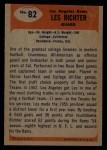 1955 Bowman #82  Les Richter  Back Thumbnail