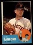 1963 Topps #325  Jack Sanford  Front Thumbnail