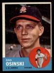 1963 Topps #114  Dan Osinski  Front Thumbnail