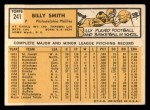 1963 Topps #241  Billy Smith  Back Thumbnail