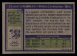 1972 Topps #319  Edgar Chandler  Back Thumbnail