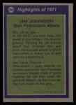 1972 Topps #284   -  Jimmy Johnson All-Pro Back Thumbnail