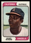 1974 Topps #76  Mickey Rivers  Front Thumbnail