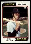 1974 Topps #219  Doug Griffin  Front Thumbnail