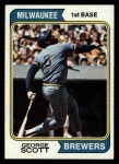 1974 Topps #27  George Scott  Front Thumbnail