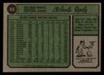 1974 Topps #83  Orlando Cepeda  Back Thumbnail