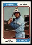 1974 Topps #97  Bob Bailey  Front Thumbnail