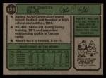 1974 Topps #128  John Ellis  Back Thumbnail