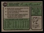 1974 Topps #136  Rick Reuschel  Back Thumbnail