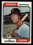 1974 Topps #138  Eddie Brinkman  Front Thumbnail