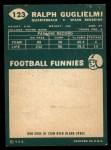1960 Topps #123  Ralph Guglielmi  Back Thumbnail