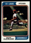 1974 Topps #175  Reggie Cleveland  Front Thumbnail