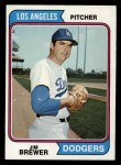 1974 Topps #189  Jim Brewer  Front Thumbnail