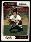 1974 Topps #213  Dave Rader  Front Thumbnail