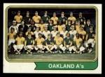 1974 Topps #246   Athletics Team Front Thumbnail