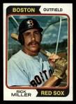 1974 Topps #247  Rick Miller  Front Thumbnail