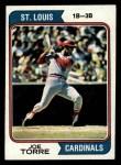 1974 Topps #15  Joe Torre  Front Thumbnail