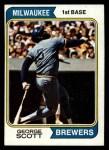 1974 Topps #27  George Scott  Front Thumbnail
