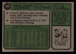 1974 Topps #68  Grant Jackson  Back Thumbnail