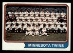 1974 Topps #74   Twins Team Front Thumbnail