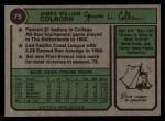 1974 Topps #75  Jim Colborn  Back Thumbnail