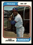1974 Topps #107  Alex Johnson  Front Thumbnail