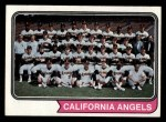 1974 Topps #114   Angels Team Front Thumbnail