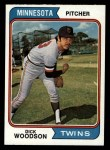 1974 Topps #143  Dick Woodson  Front Thumbnail