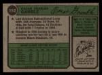 1974 Topps #152  Oscar Gamble  Back Thumbnail