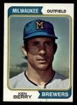 1974 Topps #163  Ken Berry  Front Thumbnail