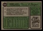 1974 Topps #168  Danny Thompson  Back Thumbnail