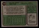 1974 Topps #170  Bill Melton  Back Thumbnail