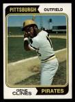 1974 Topps #172  Gene Clines  Front Thumbnail