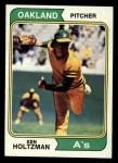 1974 Topps #180  Ken Holtzman  Front Thumbnail