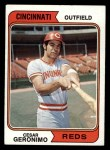 1974 Topps #181  Cesar Geronimo  Front Thumbnail