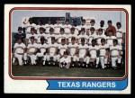 1974 Topps #184   Rangers Team Front Thumbnail