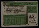 1974 Topps #188  Rudy Meoli  Back Thumbnail