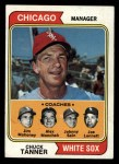 1974 Topps #221   -  Chuck Tanner / Joe Lonnett / Jim Mahoney / Al Monchak / Johnny Sain White Sox Leaders   Front Thumbnail