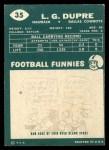 1960 Topps #35  L.G. Dupre  Back Thumbnail