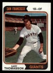 1974 Topps #18  Gary Thomasson  Front Thumbnail
