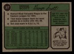 1974 Topps #27  George Scott  Back Thumbnail