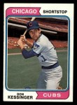 1974 Topps #38  Don Kessinger  Front Thumbnail